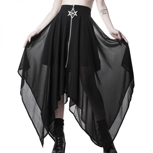 Loose Asymmetric Skirt with zipper 7