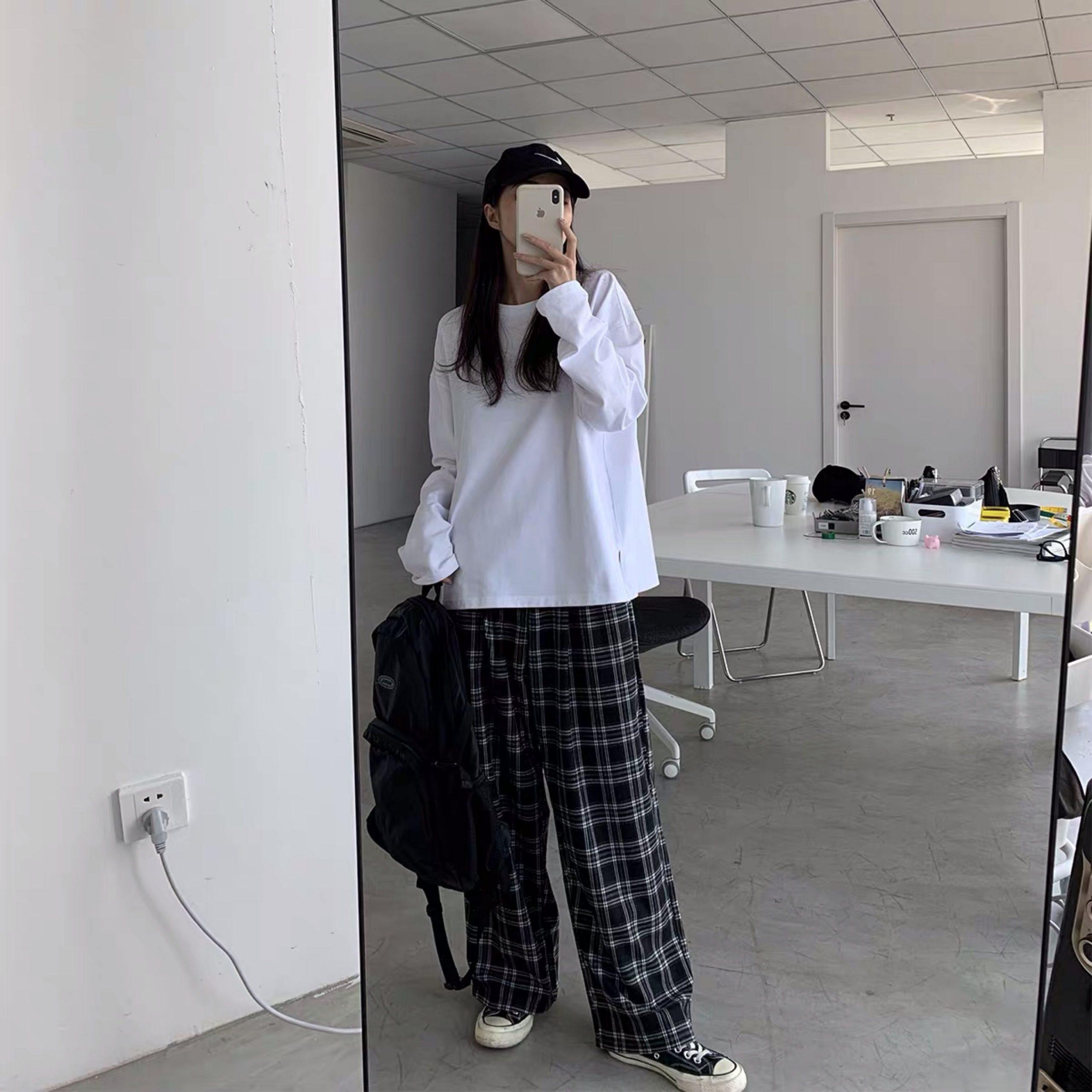 Plaid Oversize Pants E-boy E-girl 46