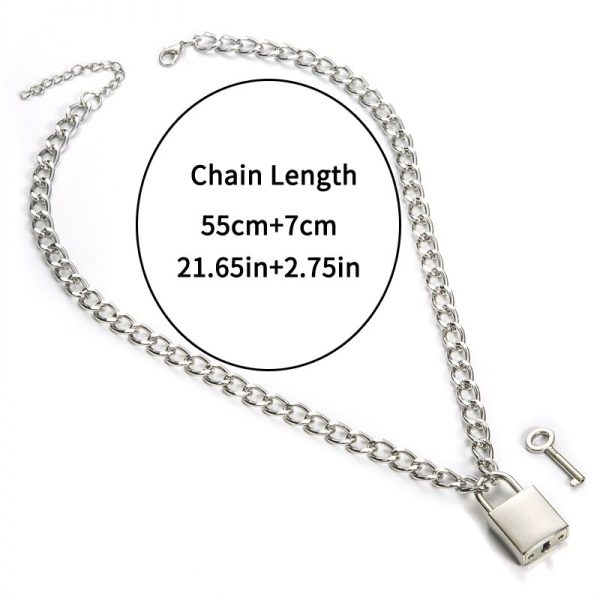 Chain With Lock Necklace 3