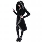 Loose Coat Hoodie With Moon Print 4