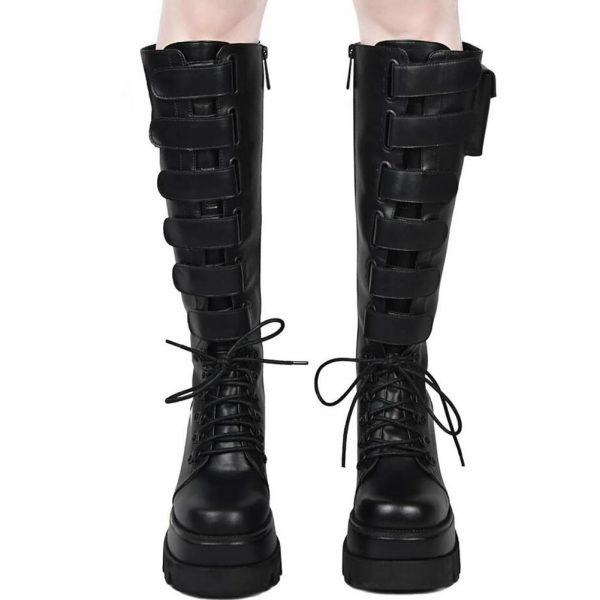 High Heels mid-calf Boots with Platform 4