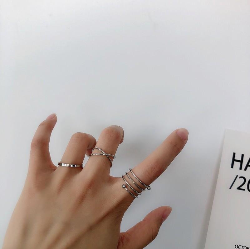 Resizable Rings set for fingers 57