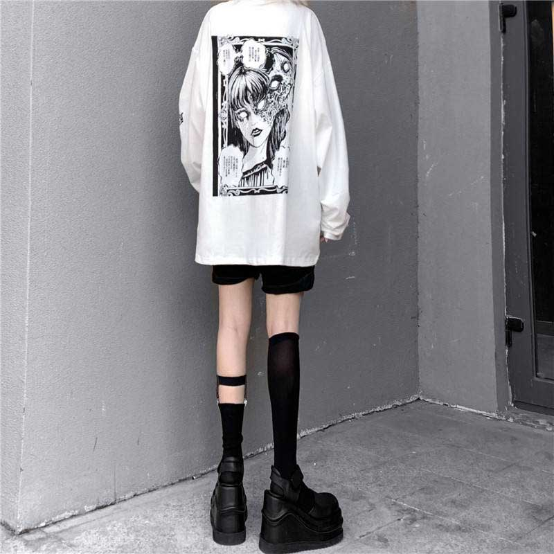 Cartoon Horror Graphic T-shirt E-girl 43