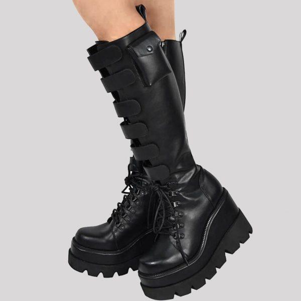 High Heels mid-calf Boots with Platform 1