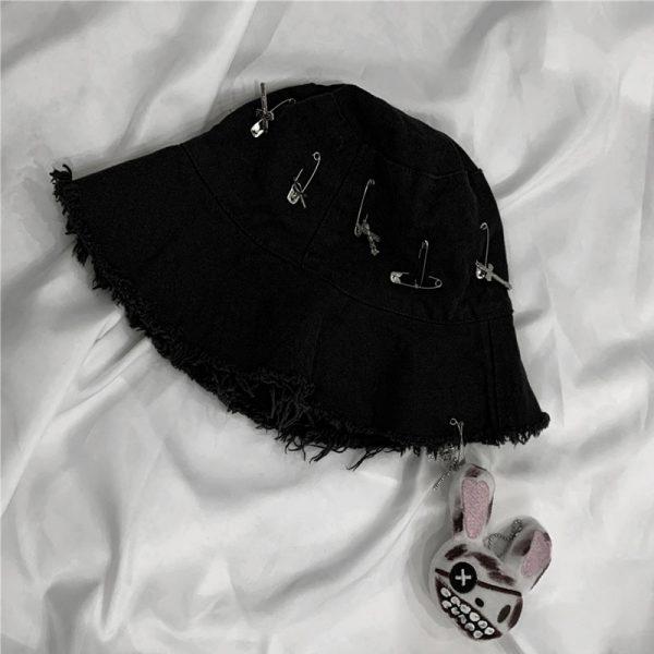 Harajuku Bucket  Hat with Pins 6