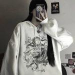 Dragon Element Print Harajuku hoodie 4