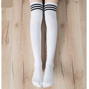 Cotton School Girl Over Knee Stockings