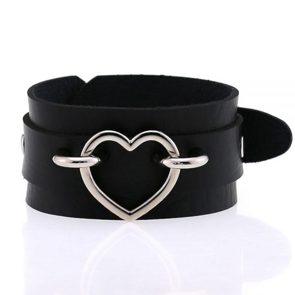 Wide Wristband with Heart 1