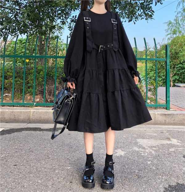 Harajuku Black Midi Dress 7