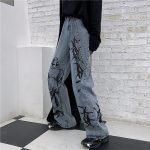 Wide Blue Pants with Print 14