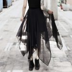 Loose Asymmetric Skirt with zipper 11