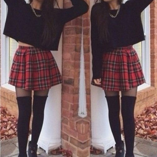 School Uniform Plaid Skirt E-girl Harajuku 43