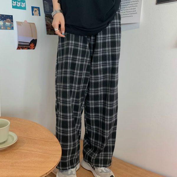 Plaid Oversize Pants 2