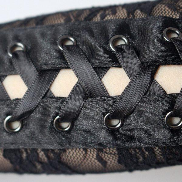 Lace Long Fingerless Gloves  6