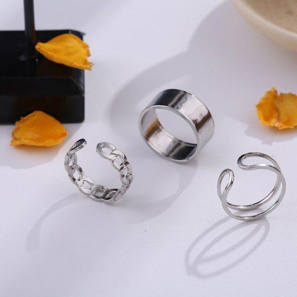 Resizable Rings set for fingers 5