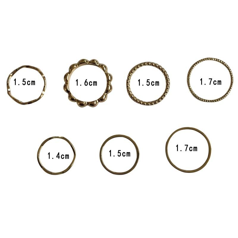 Resizable Rings set for fingers 46