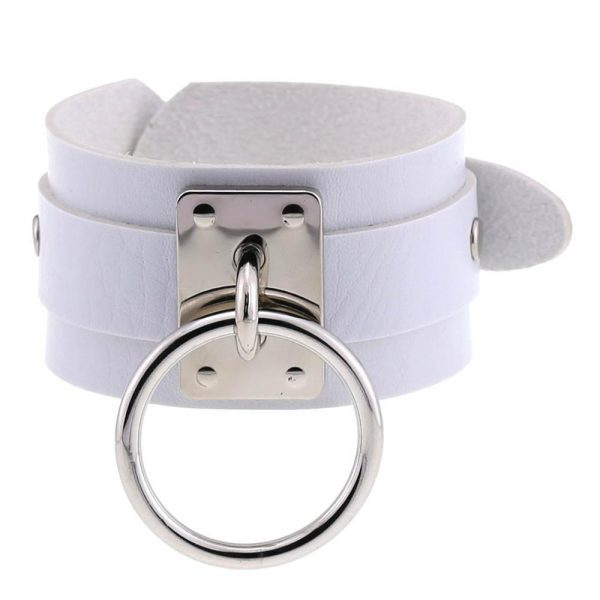 Leather Wristband with ring 6