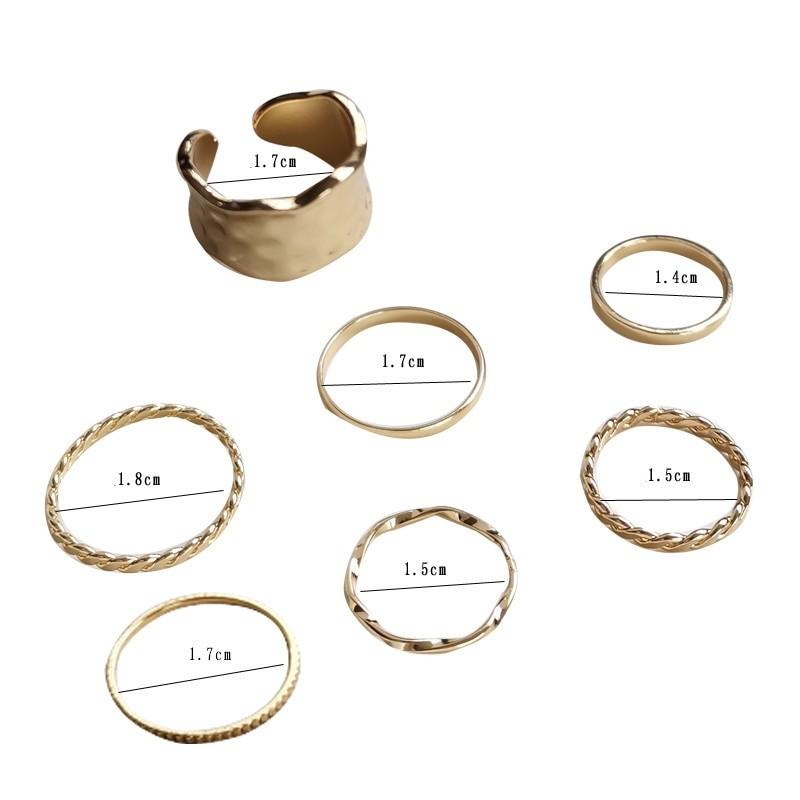 Resizable Rings set for fingers 48