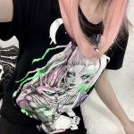 Gothic T-shirts with Cartoon print 4