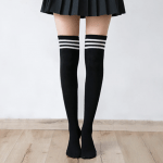 Cotton School Girl Over Knee Stockings 5