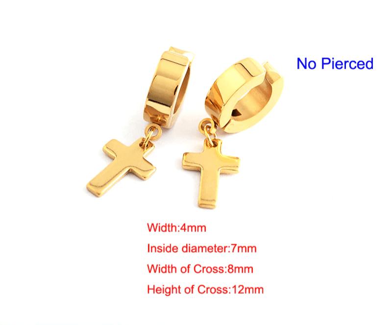 Earrings with Cross pendant 10
