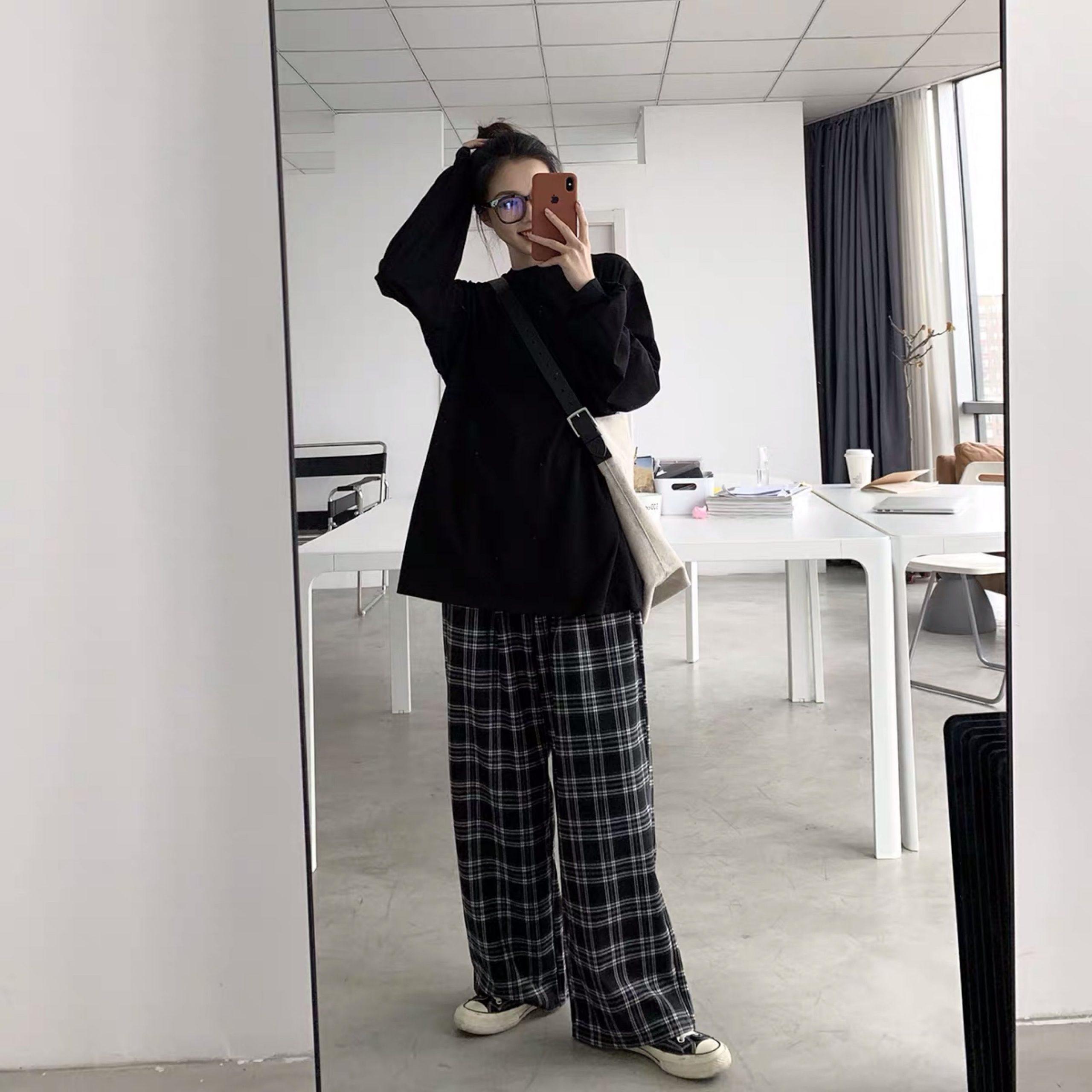 Plaid Oversize Pants E-boy E-girl 45