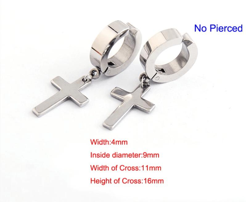 Earrings with Cross pendant 11