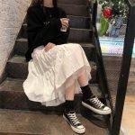 Long Midi Skirts  with Elastic High Waist 3