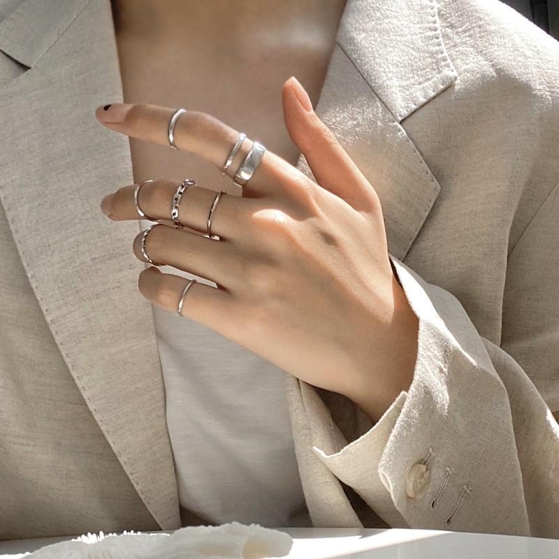 Resizable Rings set for fingers 55