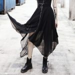 Loose Asymmetric Skirt with zipper 10