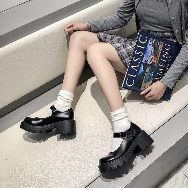 Lolita Vintage Shoes with High Heel Platform 17