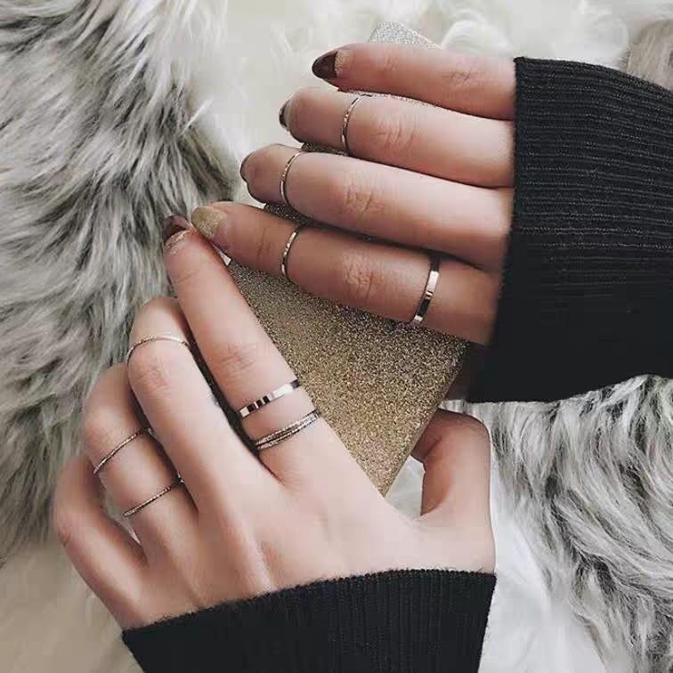 Resizable Rings set for fingers 53