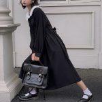 Dress Women Dark Fashion Preppy Style Long Sleeve Lolita Dresses Japanese Sweet Peter Pan Collar Long Ladies Elegant Dresses 3