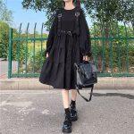Harajuku Black Midi Dress 14