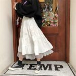 Long Midi Skirts  with Elastic High Waist 1