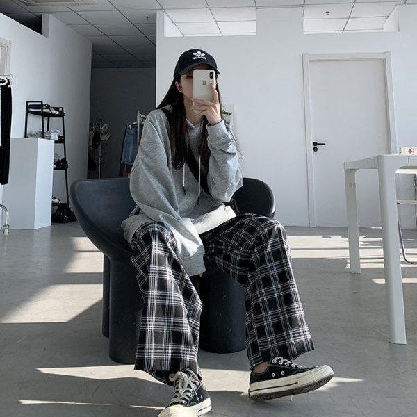 Plaid Oversize Pants 15