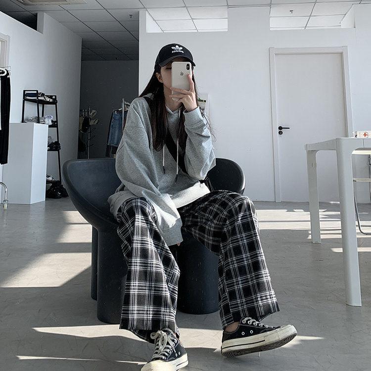 Plaid Oversize Pants E-boy E-girl 50