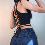 Backless Crop Top with laces 3