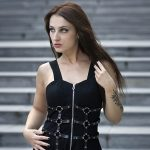 Dress with belts eyelet and zipper 3