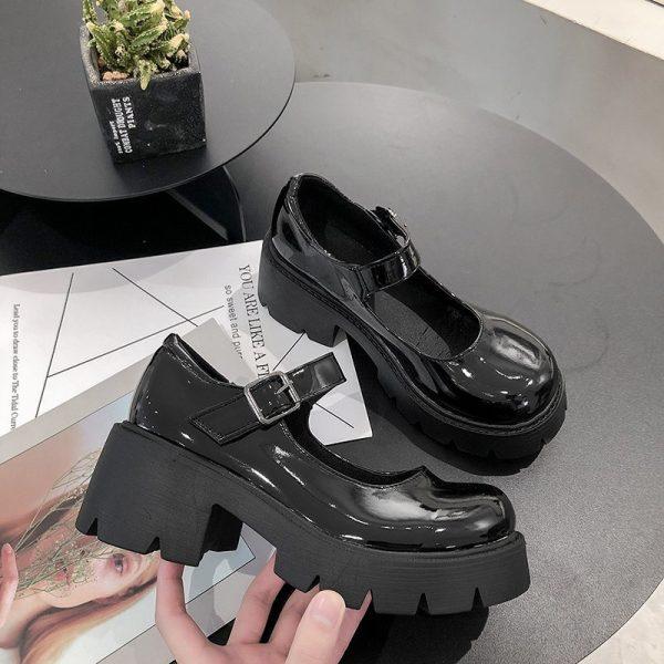 Lolita Vintage Shoes with High Heel Platform 4