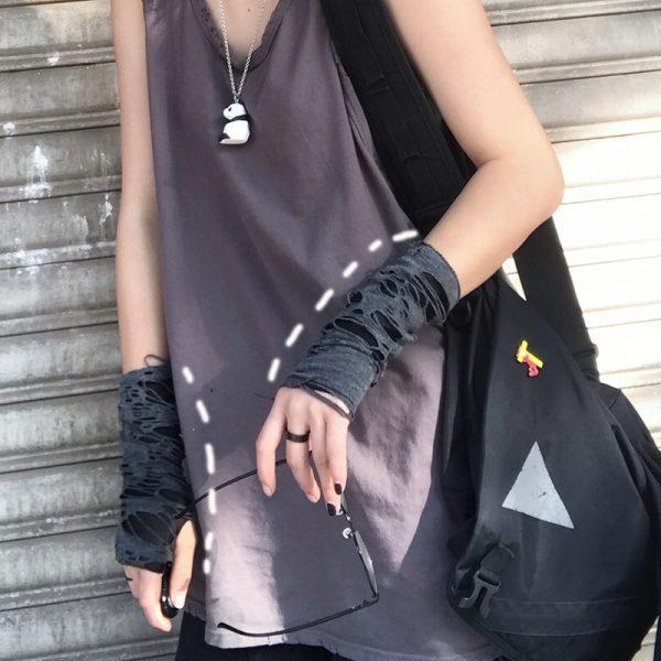 Punk / Grunge Fingerless Mitten 3