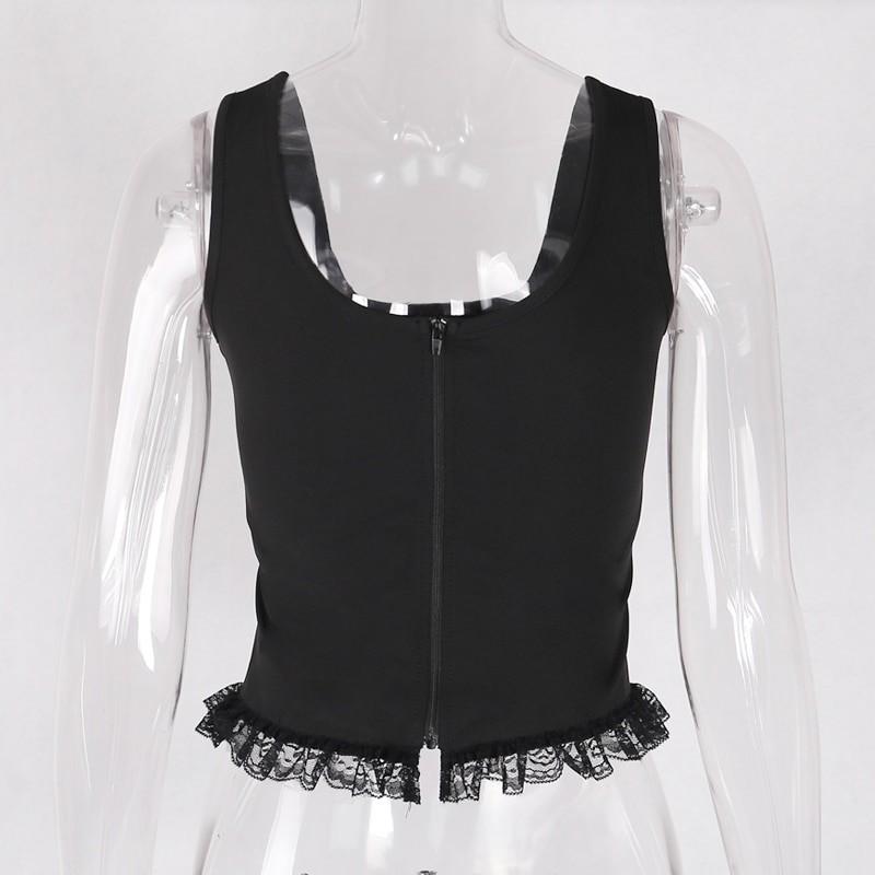 Black Lace Tank Top E-girl Gothic 47