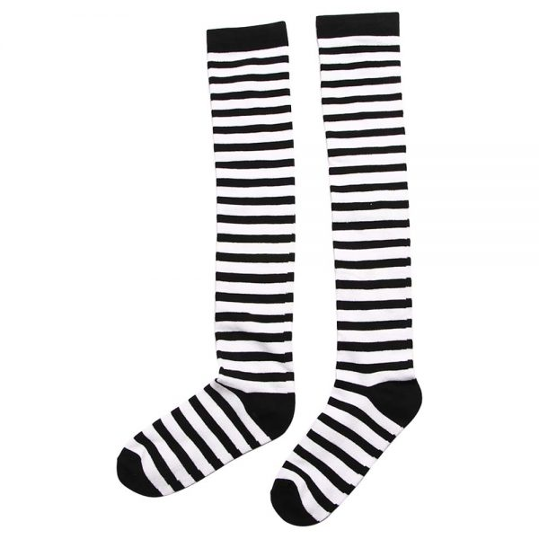 Long Stocking  Over The Knee (striped/dots) 2