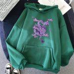 Dragon Print hoodie 5