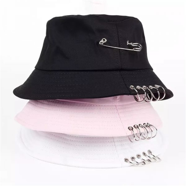 Bucket Hat with Pin Rings  6