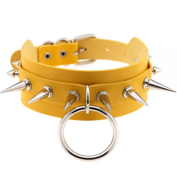 Chokers with ring ang spikes 6