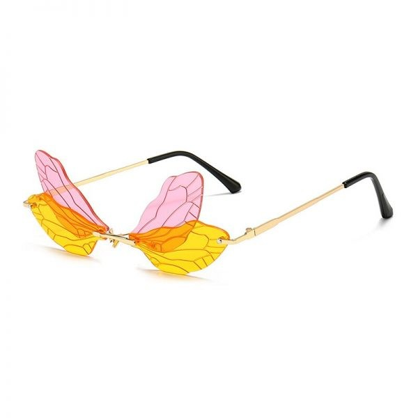Rimless Dragonfly Wing Sunglasses 4
