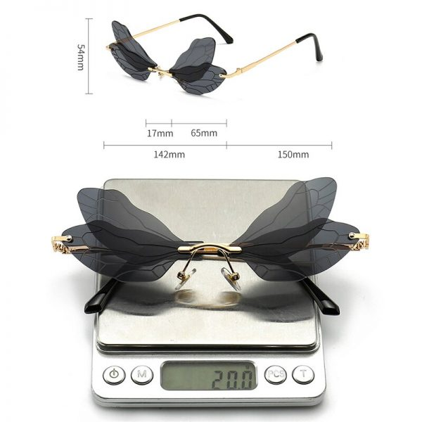 Rimless Dragonfly Wing Sunglasses 5