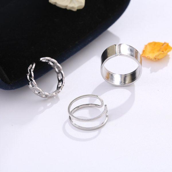 Resizable Rings set for fingers 4