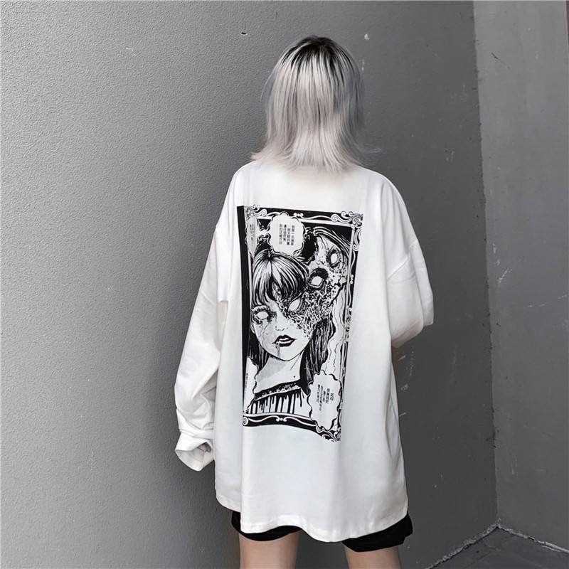 Cartoon Horror Graphic T-shirt E-girl 48